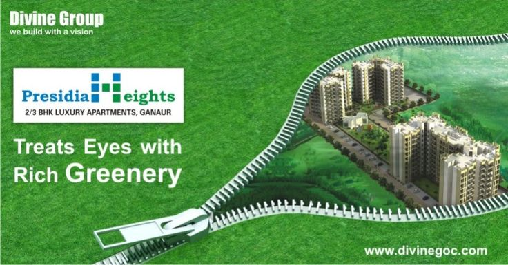 Fresh & Natural living at Presidia Heights surely allures health conscious  people to the large extent as greenery keeps residents away of several kinds of diseases. #DivineGroup #PresidiaHeights
