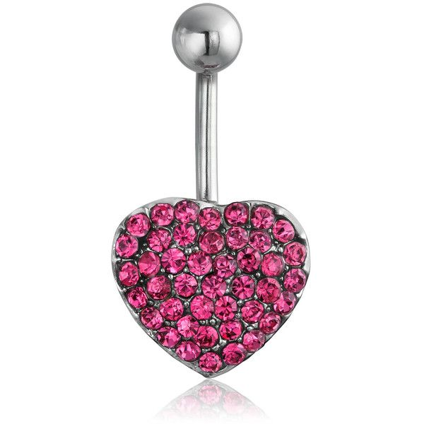 Bling Jewelry Kiss My Heart Charm Body Jewelry ($4.19) ❤ liked on Polyvore featuring jewelry, body jewelry, body-piercing-rings, pink, steel jewelry, steel body jewelry, body jewellery, steel body jewellery and charm jewelry