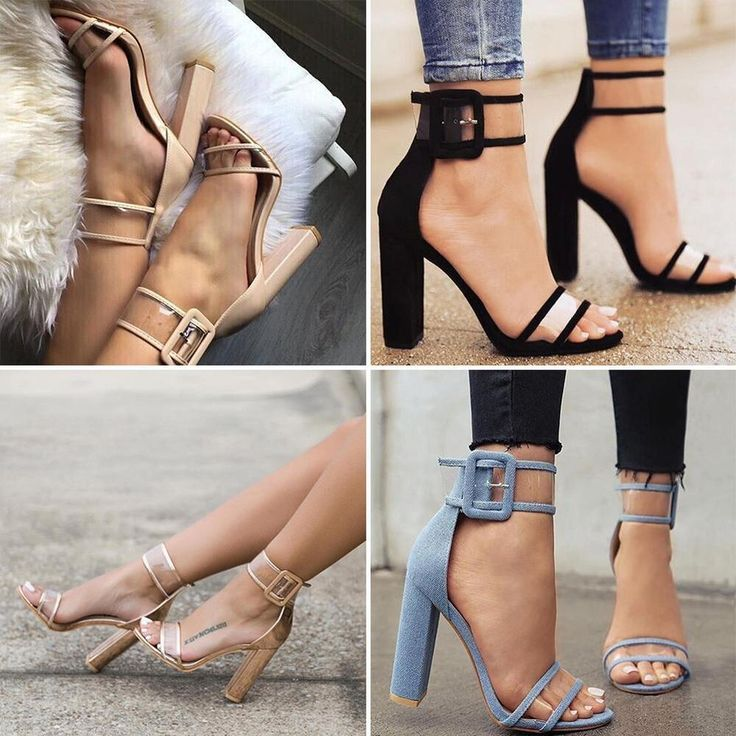 Woman Summer High Heels Thick Heel Transparent Open Toe Sandals Shoes YU#03 #Unbranded #OpenToe