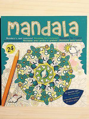 Malbuch Malblock Mandala für Kinder / Erwachsene Malen Stift Buch Geschenk Neu