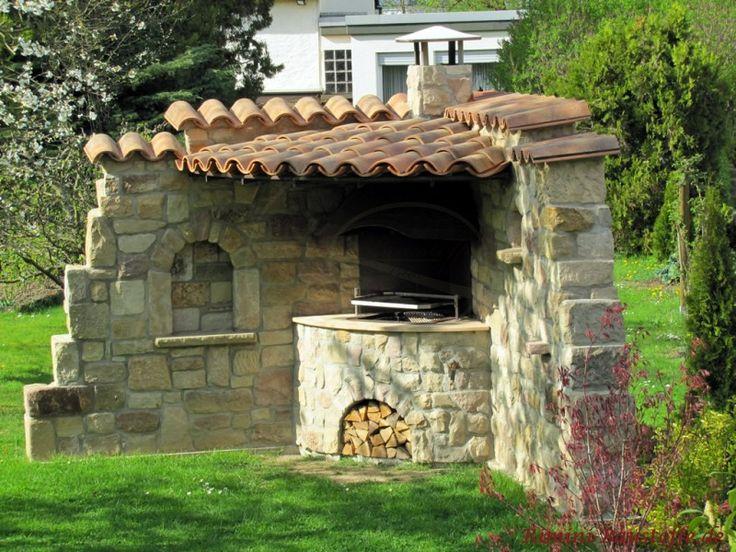 #Ruinen Baustil als #Grillecke #mediterrane Mauersteine und Dachziegel