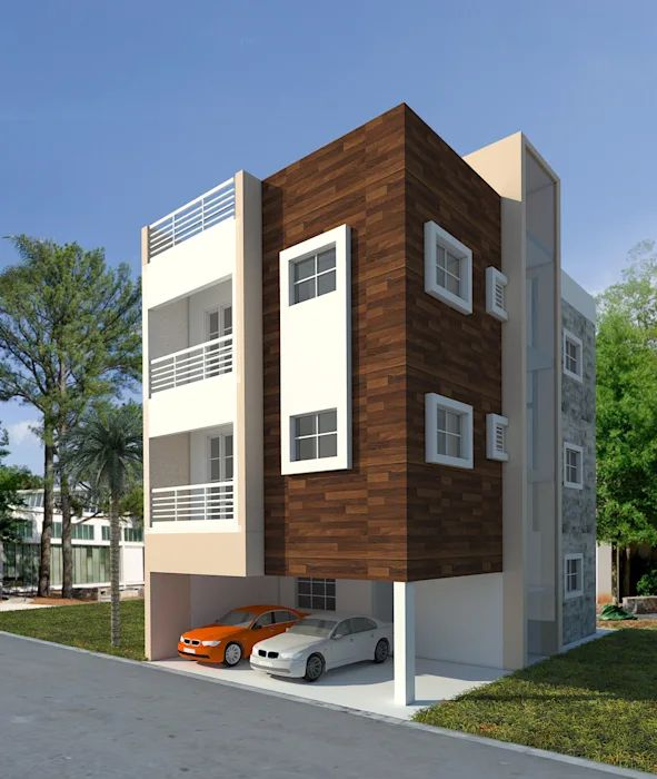 Front Elevation Design Ideas From Architects In Jaipur: Elevation Designs In Hyderabad By Sky Architects