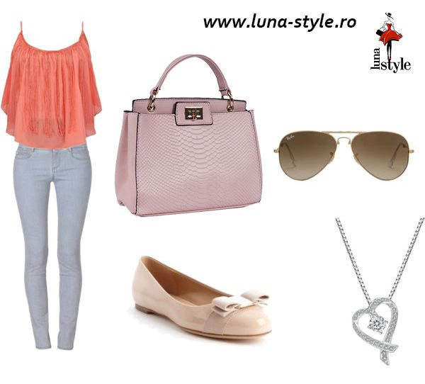 Rose quartz bag and a comfy outfit for summer days