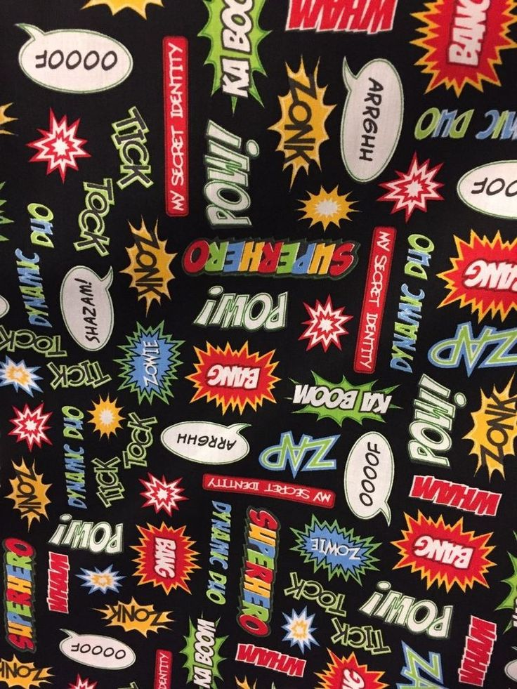 SUPER HERO 100% cotton fabric by the yard by Robert Kaufman - Superhero fabric #RobertKaufman