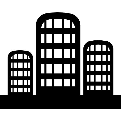 Cylindrical shape buildings I Free Icon