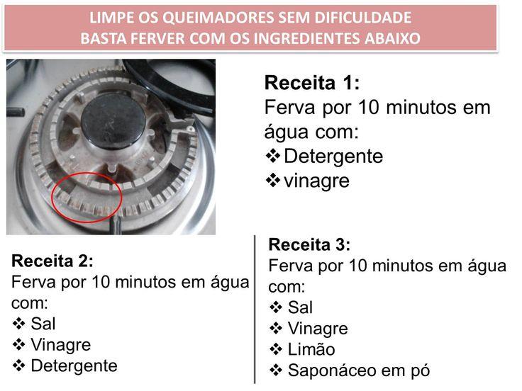 TREMPE E QUEIMADORES DE FOGÃO SUJOS