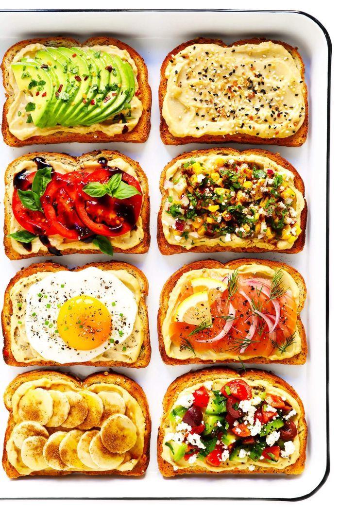 Brunch, was dir gehört, Brotscheiben mit verschiedenen Zutaten, Toast ... - Kochen und Geniessen - #brunch #mit #verschiedenen #genüssen