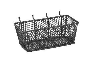 Bulldog 131592 Wire Mesh Basket with Peg Hooks Black Medium by Bulldog. $6.52. From the Manufacturer                The Bulldog 131592 Wire Mesh Basket with Peg Hooks Black Medium allow for storage of fasteners, parts, tools and any range of small miscellaneous supplies. Baskets are designed to easily hang on pegboard panels or can be set on any flat surface for workspace mobility and convenience.                                    Product Description                The Bulldog...