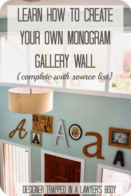 How to Create Your Own Monogram Gallery Wall ~ A step-by-step tutorial