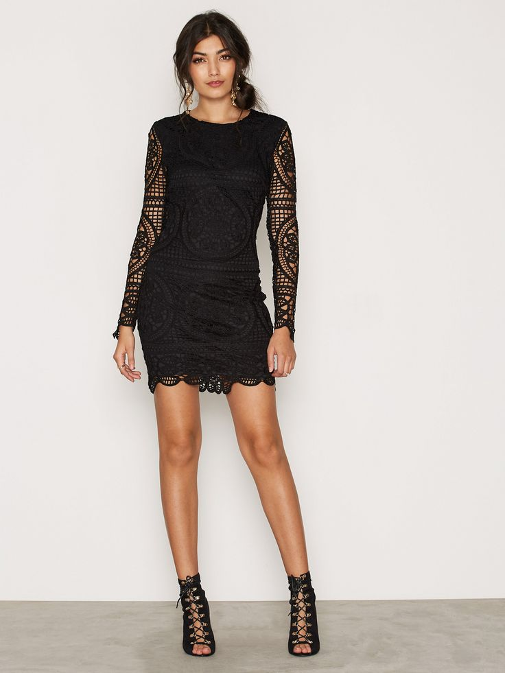 Shoppa Famous Crochet Dress - Online Hos Nelly.com