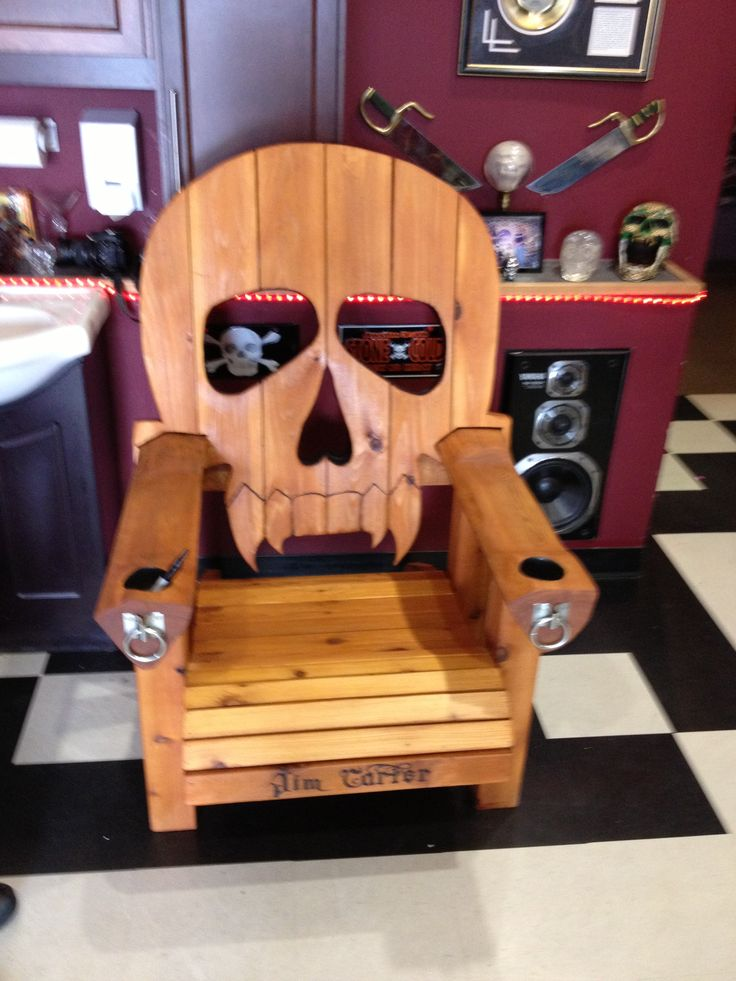 Skull Adirondack Chair Made By Lars Stoltz Larshole1