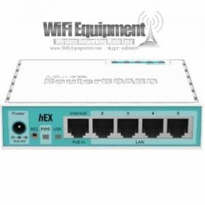 Mikrotik Routerboard RB951Ui-2HnD, 5xPORT LAN ROUTER RB 951Ui 2HnD, Atheros AR9344 600MHz CPU, 128MB DDR2 onboard memory, Five independent 10/100 Ethernet ports
