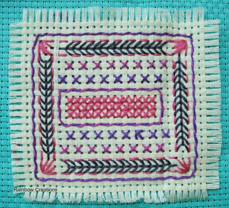 Rainbow Creations - Art and Craft for Children - Blog: Embroidery Stitches for Children