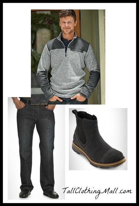 Men's Big and Tall Fleece Sweater and Outfit - Tall Clothing Mall