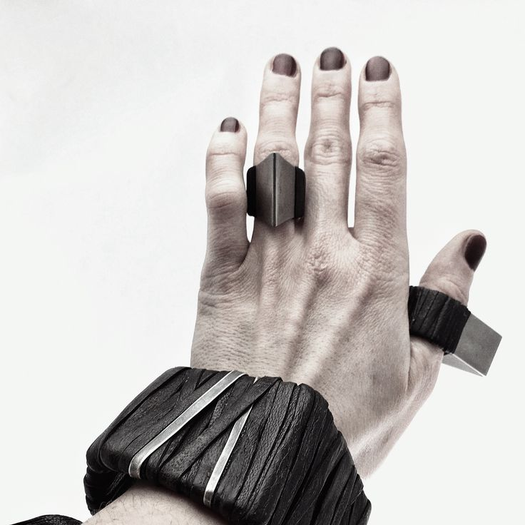 WILDHORN titanium ring with leather wrapping and leather bracelets available at wildhornj.com