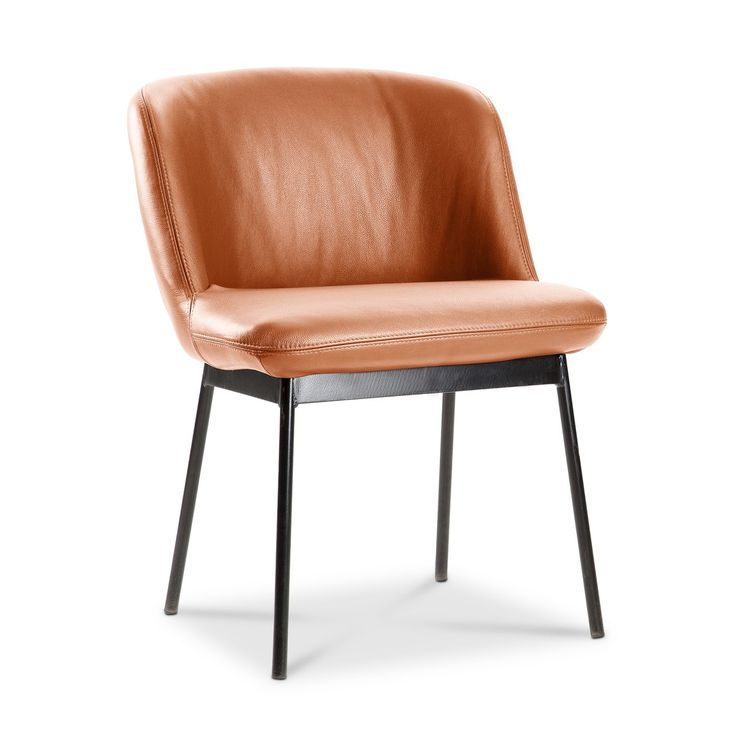 Loungestuhl UNICO, cognac  Metall lackiert - 16277601 0