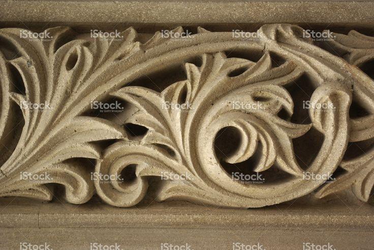 Stucco floral decoration