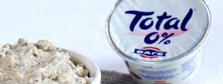 Crema di melanzane con yogurt Total 0% e cumino