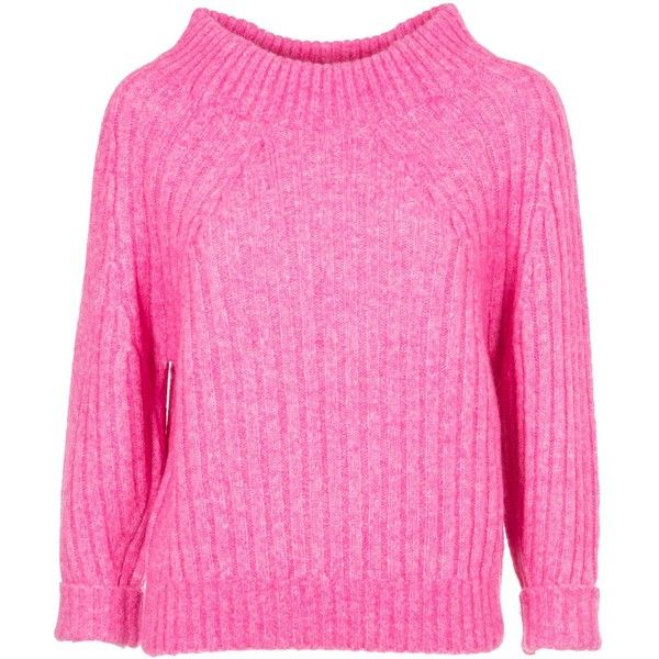 Ribbed Sweater ($340) ❤ liked on Polyvore featuring tops, sweaters, candy pink, 3.1 phillip lim, ribbed long sleeve top, 3.1 phillip lim top, ribbed top and pink long sleeve top