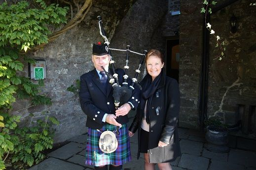 """Me & the Area Manager :-) :-) :-)  Team """"Bagpiper in South Wales & Adjacent Counties"""" will be Exhibiting & Bagpiping with My Wonderful Welsh Wedding - Home of the Wedding Guild of Wales at Bryn Meadows Golf, Hotel & Spa """" Wedding Showcase"""" next Sunday 26th November at 11am. Please come and say hello :-) #SouthWales #Weddingmusic #Bagpipes #Cardiff #Caerphilly #Pontllanfraith #Maesycwmmer #Blackwood #NewportWales #Newport #ValeofGlamorgan #WelshWeddings #SouthWalesWeddings"""
