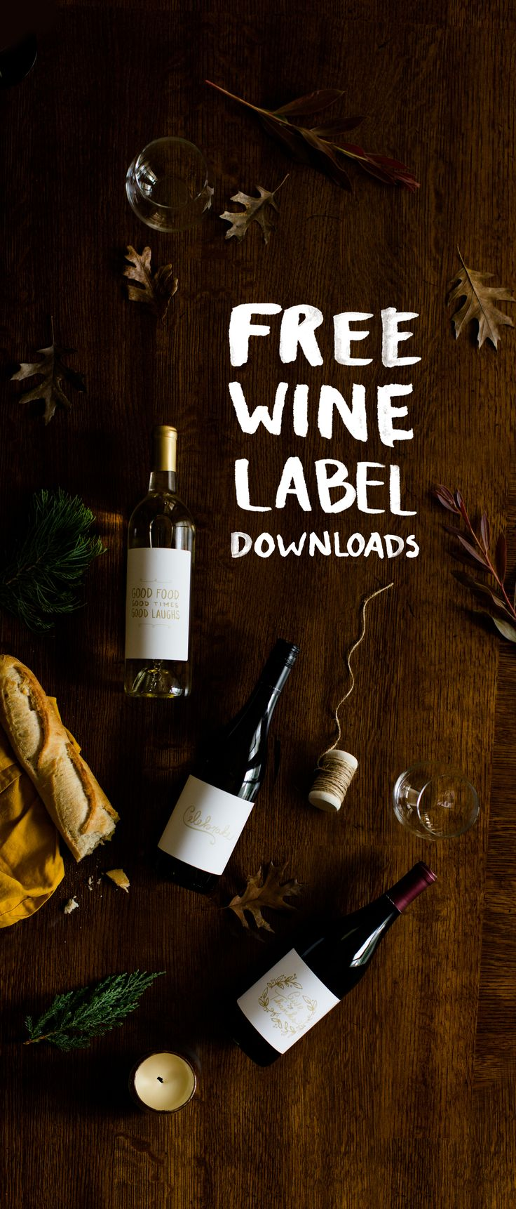 Easy DIY Wine Labels for the Holidays with Free Downloads  |  The Fresh Exchange