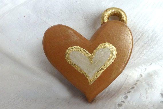 Heart ceramic music box  scatola cuore di factoryoftheartideas