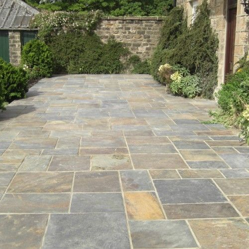 Bradstone, Natural Slate Paving Vijaya Gold Patio Pack   10.20 M2 Per Pack    Premium