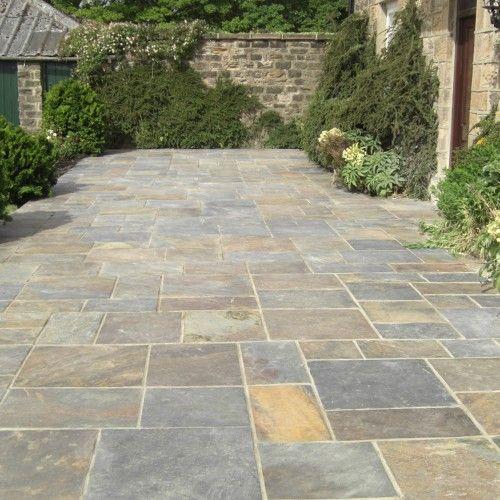 Bradstone, Natural Slate Paving Vijaya Gold Patio Pack - 10.20 m2 Per Pack - Premium Natural Stone - Paving