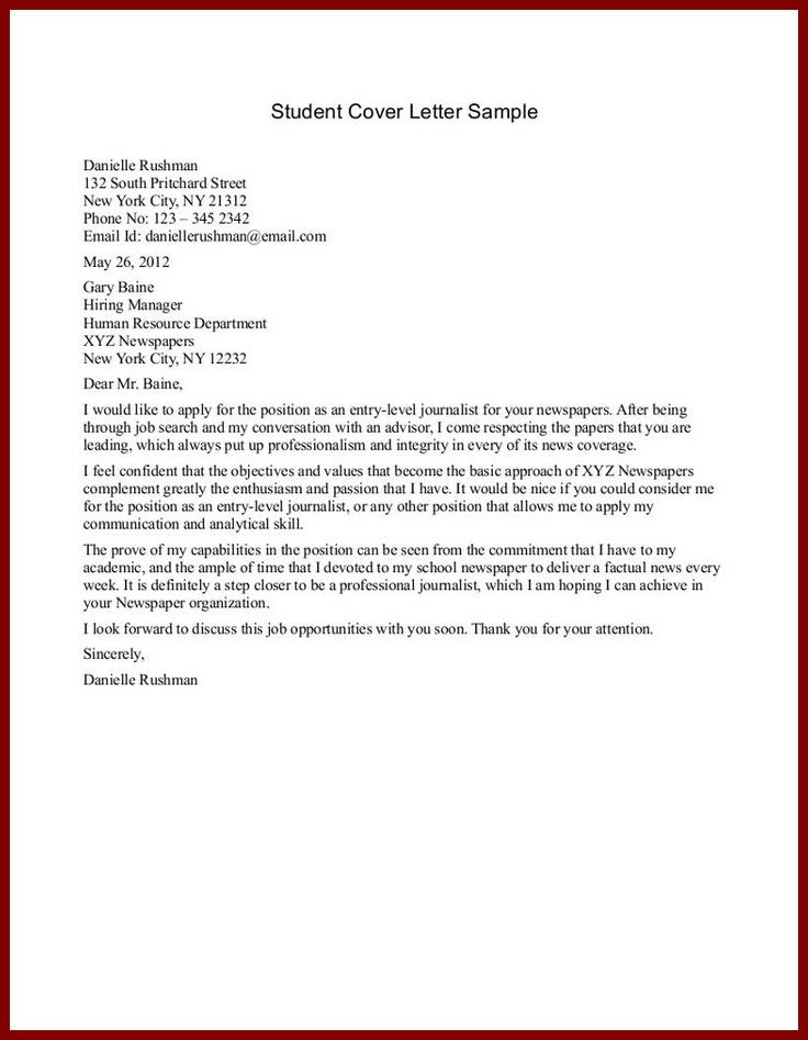 sample application letter for nursing school admission