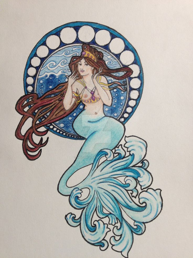 Neo Traditional Mermaid Tattoo: 22 Best Tattoo Inspirations, General Images On Pinterest