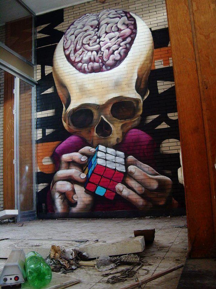 """Artist : MataOne """" Rubik Cube """" """" Ronse, Belgium"""""""