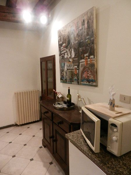 Cucina, forno microonde.
