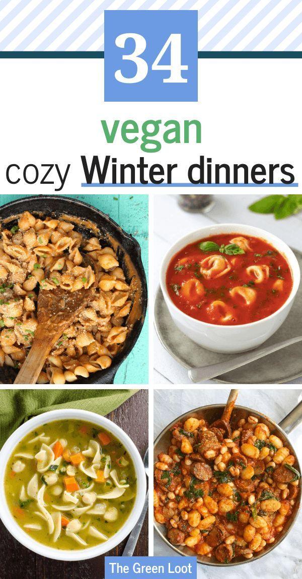 34 Warming Vegan Winter Recipes For Dinner Vegan Winter Recipes Healthy Winter Meals Healthy Comfort Food Dinners