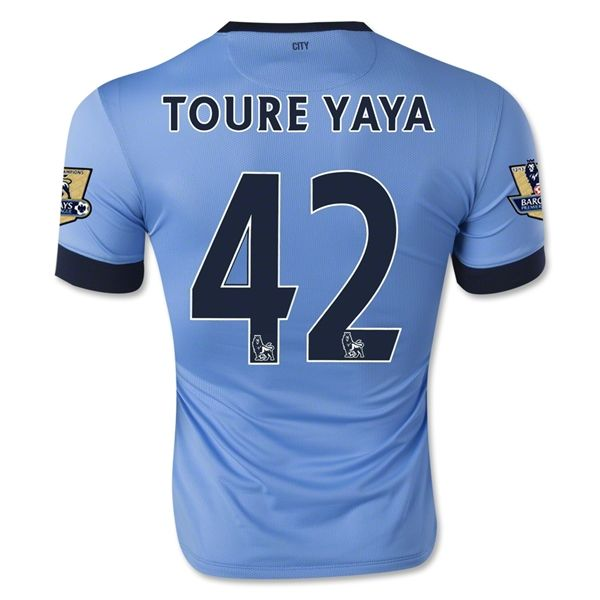 Camiseta Manchester City Local 14/15 TOURE YAYA#42 *Envío Gratis!  * Facebook: MundoFutbol