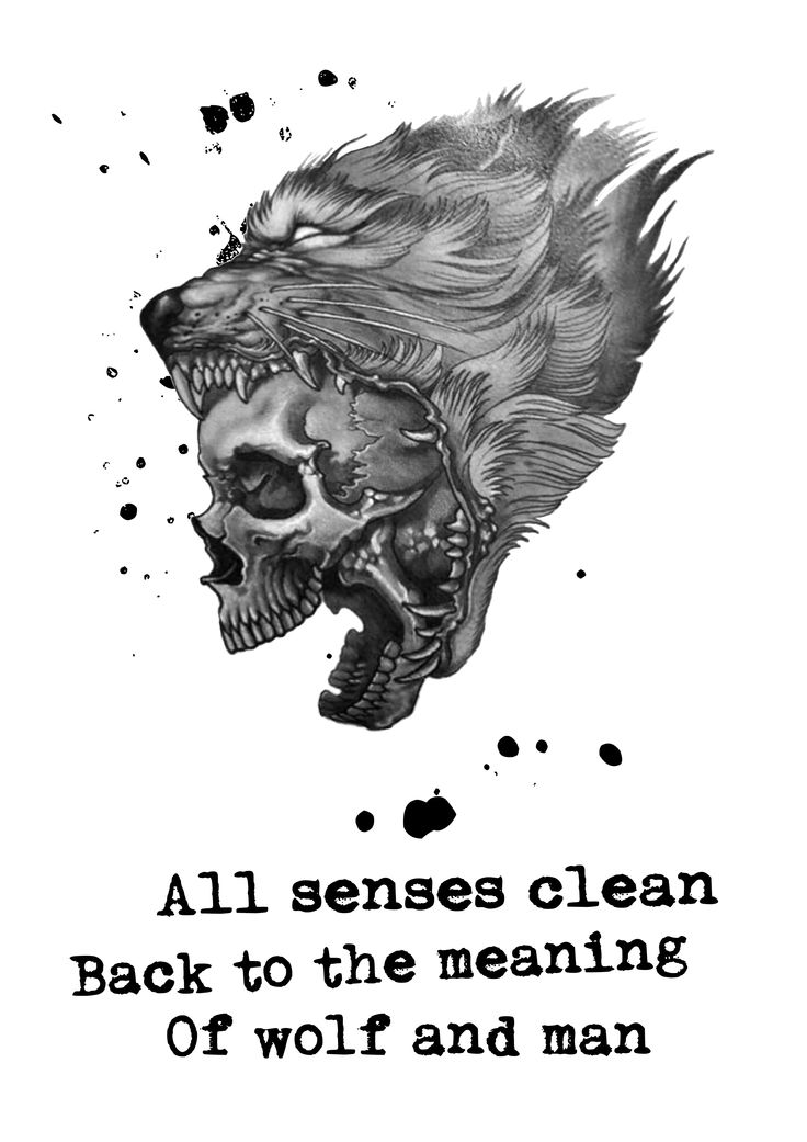 Of Wolf And Man - Tattoo idea #metallica #tattoo #ofwolfandman #allsensesclean