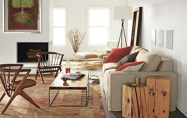 Living room board hewlitt sofa soren chair tyne for Floor lamp placement in living room