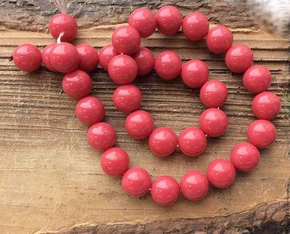 Для украшений ручной работы. Ярмарка Мастеров - ручная работа. Купить Жемчуг Майорка 10 мм шар т.розовый бусины для украшений. Handmade.