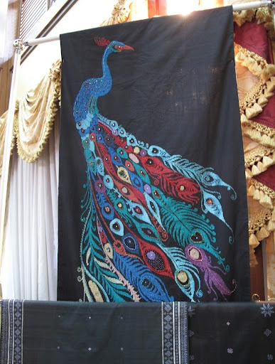 A beautiful Songket weaving, from Martha Stewart's visit to Malaysia