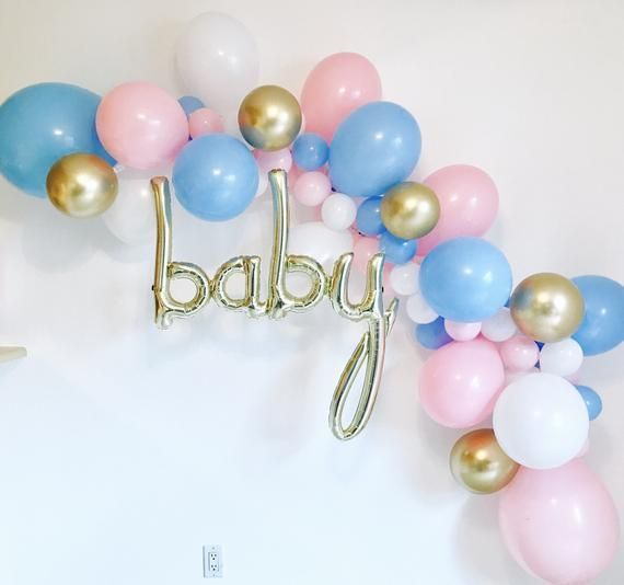 Gender Reveal Balloons Baby Reveal Shower Gender Reveal Etsy Gender Reveal Balloons Gender Reveal Shower Gender Reveal Party