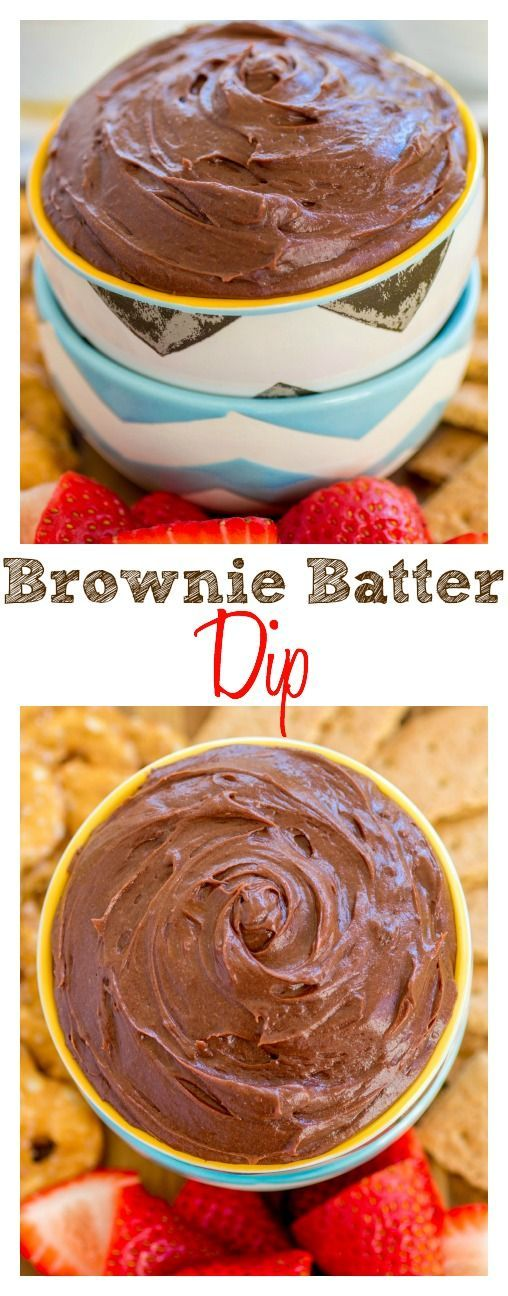 Brownie Batter Dip. Smooth, creamy and irresistible!