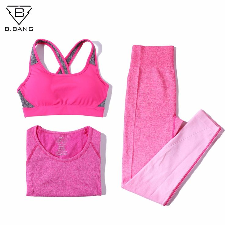 B.BANG Women Sport Yoga Sets Fitness Elasitic Sportswear Sets for Gym Running Jogging Bodybuilding Suits Woman Yoga Clothing //Price: $40.99 & FREE Shipping //     #womensleggings