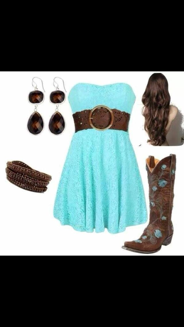 Teal lace dress with brown belt! Love this whole outfit!!
