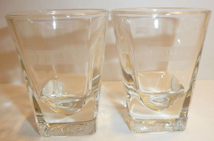 Lot of 2 Jameson Irish Whiskey Shot Glasses - 1.5 oz Whisky  #JamesonIrishWhiskey