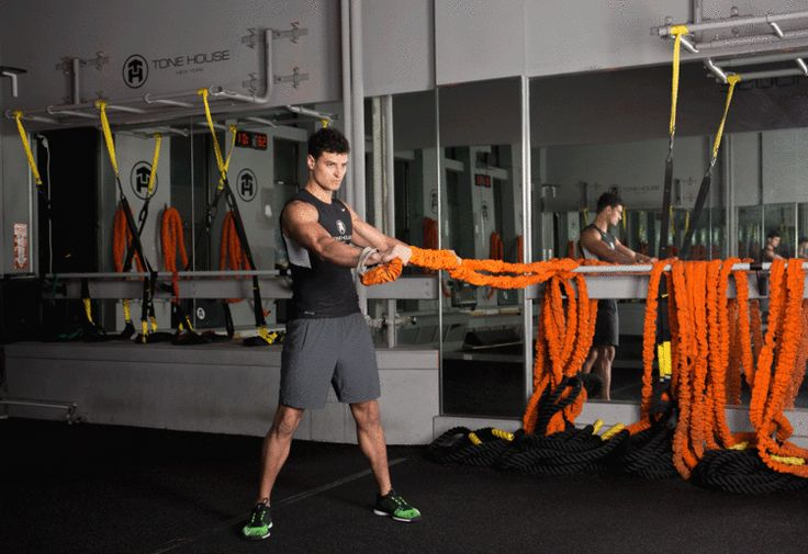 13. Resistance Band Rotation #abs #workout #exercises http://greatist.com/move/abs-workout-unexpected-moves-that-work-better-than-crunches
