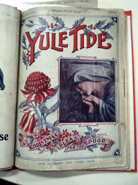 Yule Tide : a Christmas plea for the poor. Magazine published in   Sydney by the Benevolent Society of N.S.W. The State Library of N.S.W. has issues from 1910-1928.    Find more detailed information about this photograph:    http://library.sl.nsw.gov.au/record=b1009633  From the collection of the State Library of New South Wales http://www.sl.nsw.gov.au