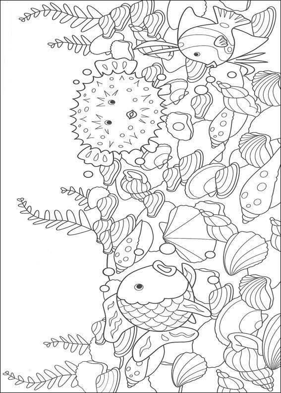 RAINBOW FISH Animal Coloring PagesColoring