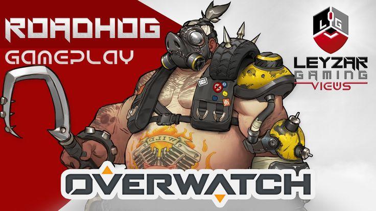 Overwatch Gameplay - Roadhog Tank Role (Closed Beta Roadhog Gameplay)