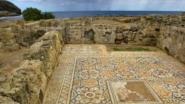 Nora , Sardinia (italy)  The archaeological zone of Nora, a city founded by the Phoenicians between the 9th and 8th centuries B.C., the most ancient  in Sardinia