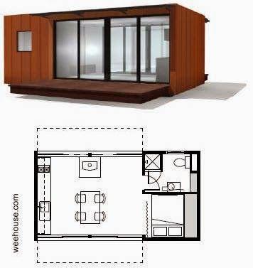 Modelo de vivienda contenida en una unidad modular
