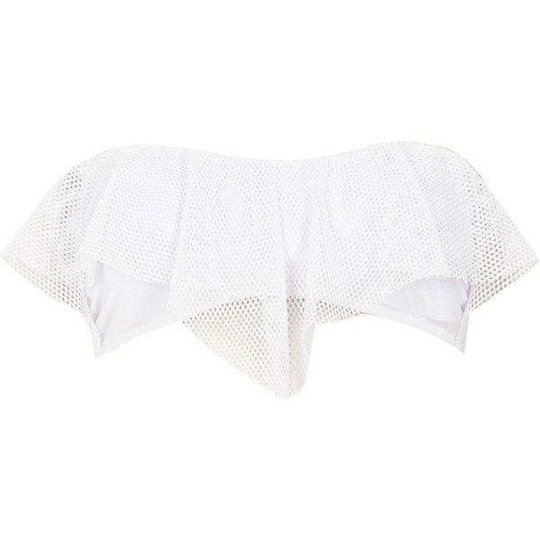 River Island White hanky bandeau bikini top ($12) ❤ liked on Polyvore featuring swimwear, bikinis, bikini tops, sale, white bandeau bikini top, summer beach wear, bandeau top bikini, white beach wear y white swimwear